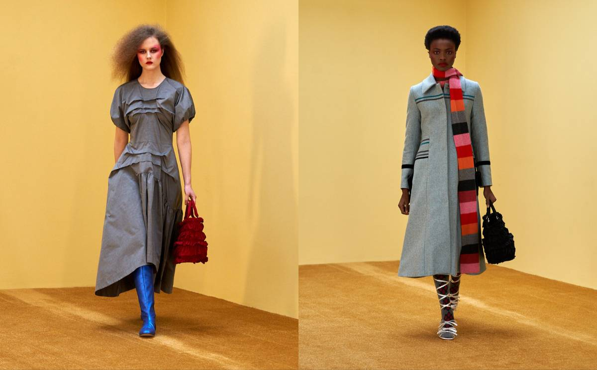 LFW AW21: Molly Goddard balances tulle with practical sensibilities